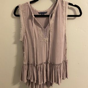 american eagle light pinkish tank top blouse